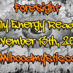 Daily Energy Reading   November 13th, 2018   Foreknowledge